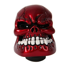 5/6 Speed Red Skull Head Auto Manual MT Car Gear Knob Shift Shifter Adapters New