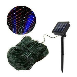 Solar Powered LED Net Light Mesh String Light 8 Modes ...