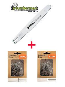"""0.50/"""" 64 DL Carving E Genuine Stihl 12/""""30cm Guide Bar /& 2x Chaîne 1//4/"""" 1.3 mm"""