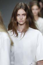 BNWT 100% Auth Calvin Klein, RUNWAY lamb Skin White Top. 38/M RRP £490