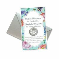 Silver Sixpence Good Luck Wedding Coin For Your Left Shoe