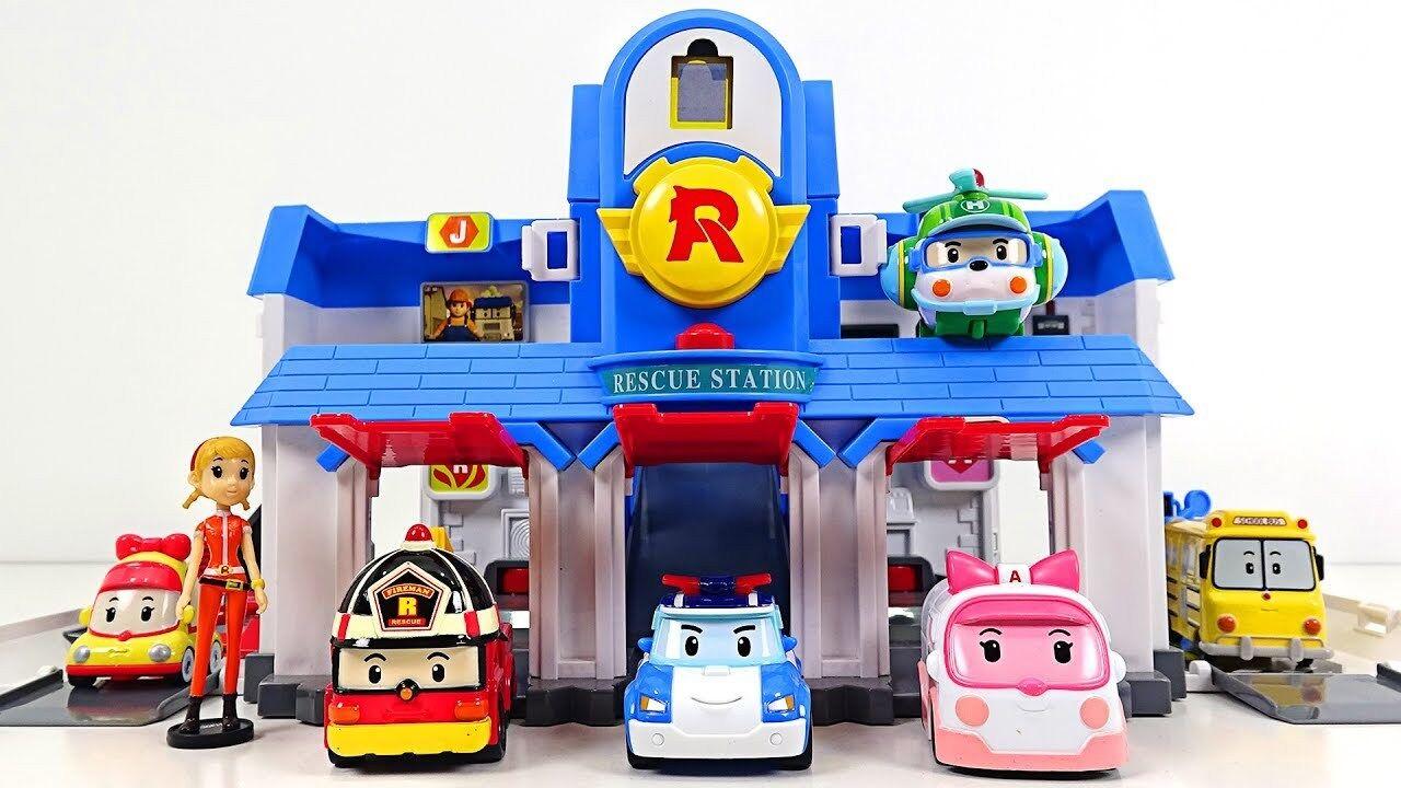 Robocar Poli ConGrünible Rescue Center Headquarter Play set