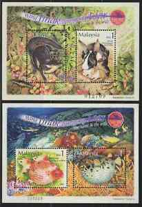 296M-MALAYSIA-2002-STAMP-WEEK-THE-TAME-amp-THE-WILD-MS-FRESH-MNH