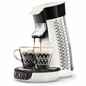 Machine à Café à Dosettes SENSEO Viva Café Ethnic Blanc Avec 2 Tasses Offertes