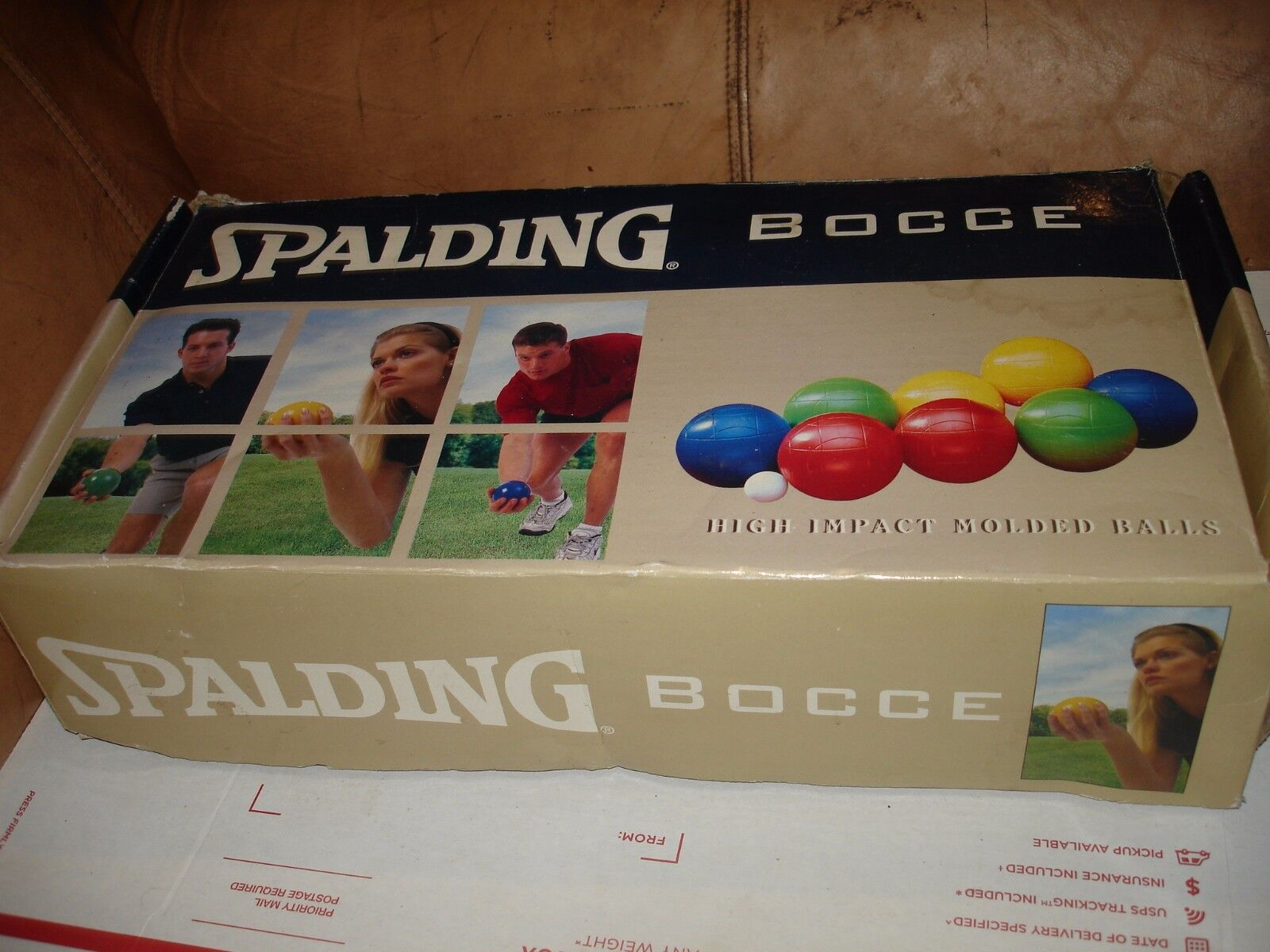 Spalding Bocce Ball set in box   lawn bowling NICE  is discounted