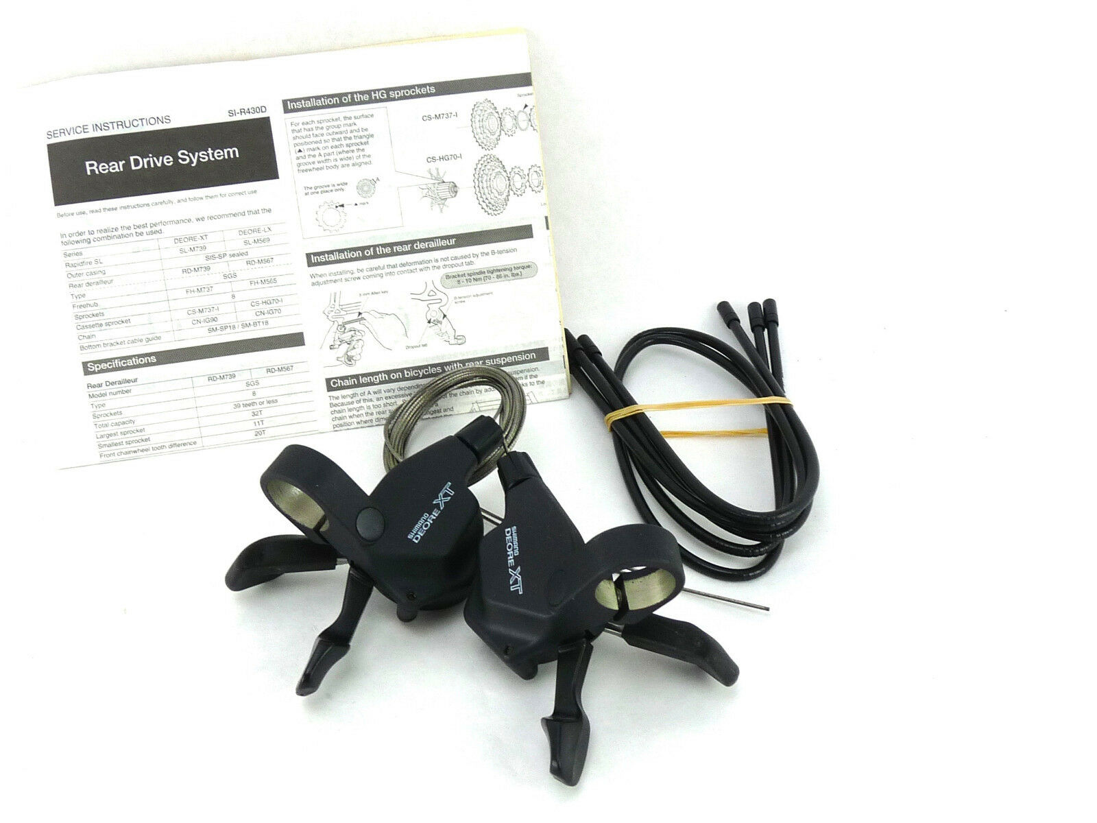 Shimano XT  Shifters M739 8 Speed Vintage MTB Bike Pods Deore NOS  wholesale price and reliable quality