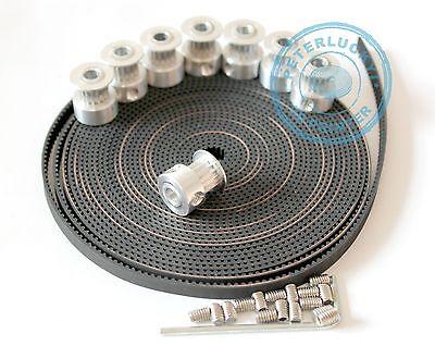 """8pcs GT2 Pulley 16Teeth Bore5mm+5M(16'5"""") GT2 Belt 3D Printer Parts RepRap Prusa"""