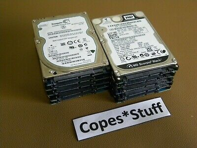 "Mixed Speed Lot of 10 WD 250GB 2.5/"" SATA Laptop HDD"