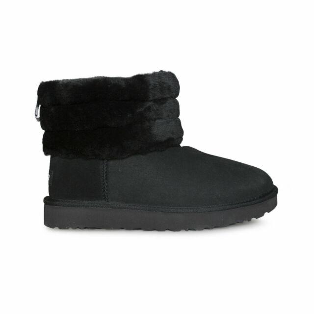 f80ed24e529 UGG W Fluff Mini Quilted Fashion Winter BOOTS 472 Black 9 US / 40 EU
