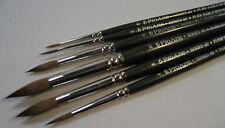 Pro Arte Artists PURE SABLE 6 Brush Set. Watercolour Painting