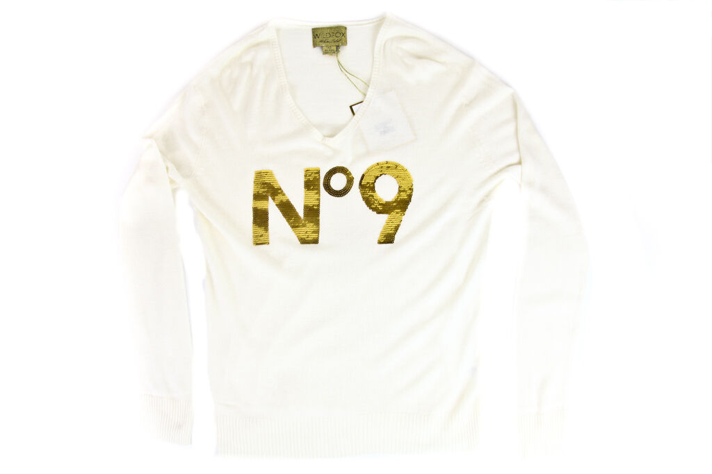 Wildfox Couture White Label No 9 Sweater in Cream NWT MSRP  300 (DISPLAY MODEL)