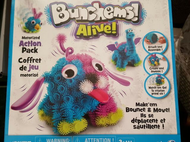 Spin Master Bunchems Alive Brand new in box Motorized Action Pack STEM toy
