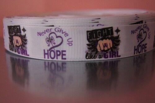 Borte Webband 2725 Never Give up Hope 22mm Breite Ripsband