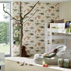 Image Is Loading Dinosaur Wallpaper Kids Children 039 S Bedroom Animal