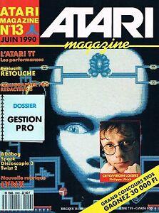 Atari Magazine N°13 Juin 1990 : Gestion Pro Soulager La Chaleur Et Le Soleil