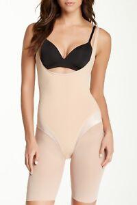 7ab5096714cb4 Spanx Haute Contour Open-Bust Mid-Thigh Bodysuit Style 1408 Size S ...