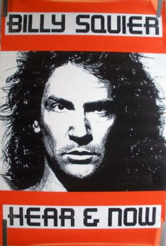 RARE BILLY SQUIER HEAR & NOW 1989 VINTAGE ORIG MUSIC RECORD STORE PROMO POSTER