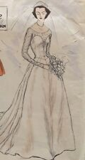STUNNING Hollywood Glamour 1953 Vogue Couturier Wedding Gown Dress Complete #704