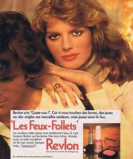 PUBLICITE ADVERTISING 045 1975 REVLON vernis à ongles poudre
