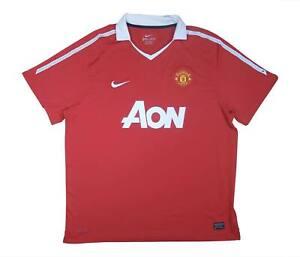 Manchester United 2010-11 ORIGINALE Maglietta (eccellente) XXL SOCCER JERSEY