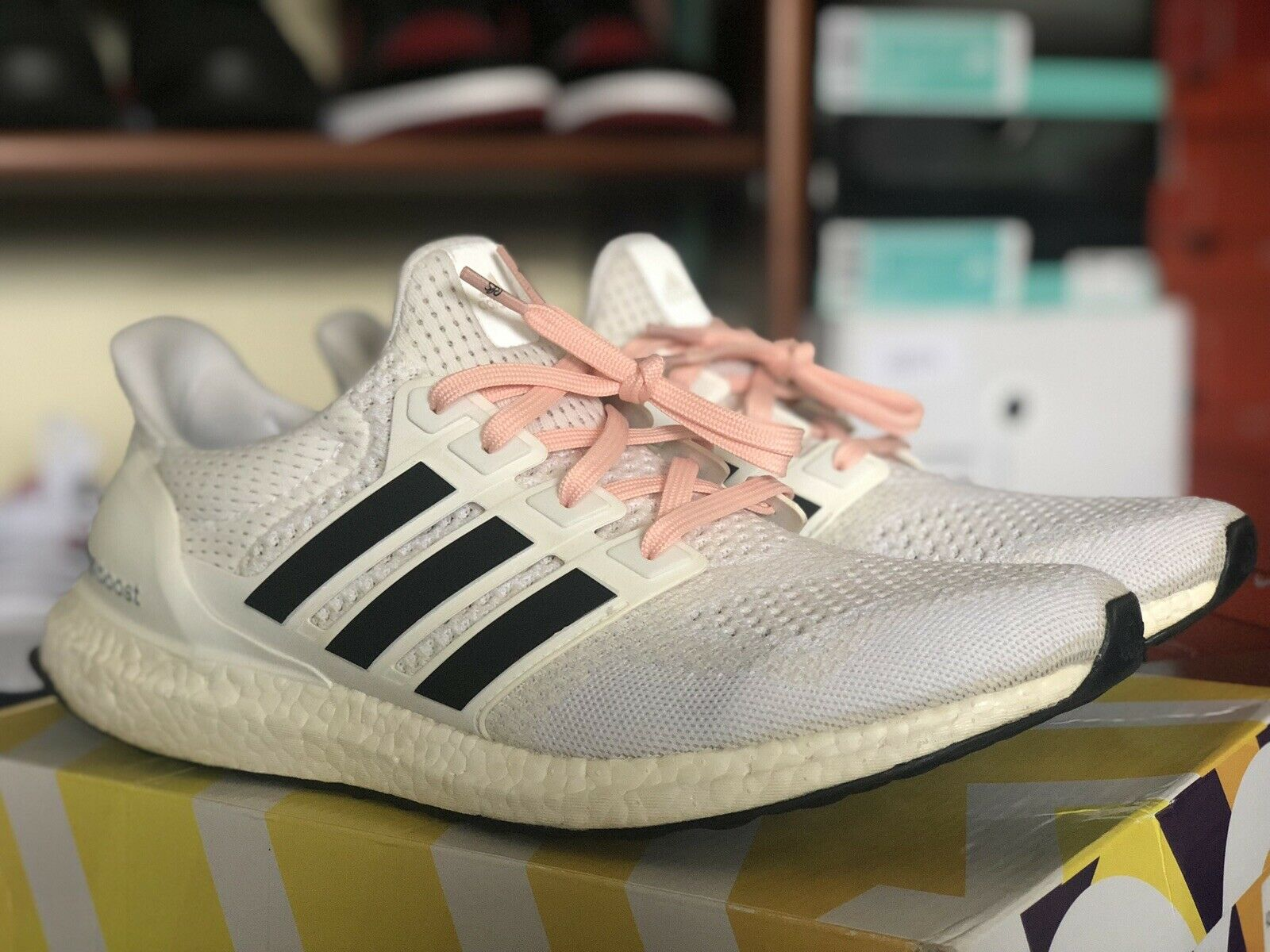 Adidas Ultra Boost 1.0 Triple White 11 Creme Solar Yellow Red orange Olive SNS 2
