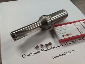 """1/"""" dia shank U drill 3//4/""""x2-1//2/""""x5-1//4/"""" indexable WCMX03 inserts #UD-34"""