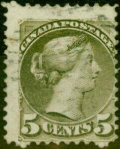 Kanada 1879 5c Oliv SG97 Fein Gebraucht (2)