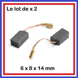 Lot-2-Balais-de-Charbon-6-x-8-x-14-mm-Moteur-perceuse-outillage-electroportati