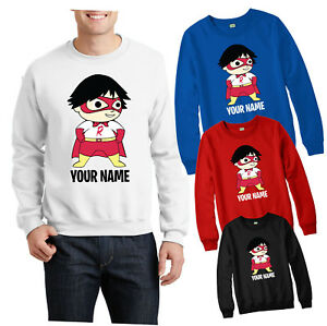 PERSONALISED-RYAN-TOYS-REVIEW-JUMPER-SCHOOL-COLLEGE-CHILDREN-KIDS-GIFT-TOP