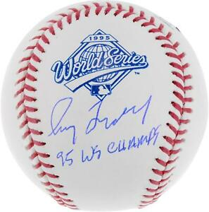 "Greg Maddux Atlanta Braves Signed 1995 WS Logo Baseball & ""95 WS Champs"" Insc"