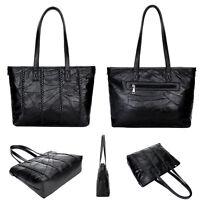 Damen Handtasche Schultertasche Mode Blogger Damentasche Tasche Schwarz Weich