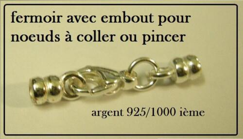 fermoir et embout collier argent 925