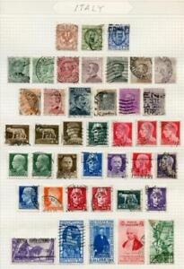 ITALY SELECTION OF USED STAMPS ON PAGES AS SHOWN