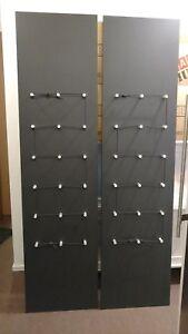 2-IKEA-PAX-GRINDER-Tueren-fuer-Kleiderschrank-201x50-cm-Anthrazit-RAR-wie-NEU