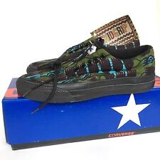 VTG Converse Skidgrip Low African Native Print Green Sz 5 W USA Deadstock Rare