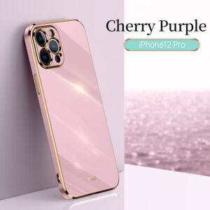 Case For iPhone 12 Pro Max 11 XR XS 7 8 Plus Shockproof Plating Silicone Cover