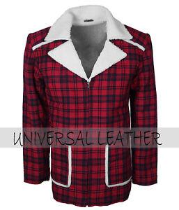 Dead-Pool-Ryan-Reynolds-Men-039-s-Red-Fur-Lined-Cotton-Winter-Leather-Coat-Costume