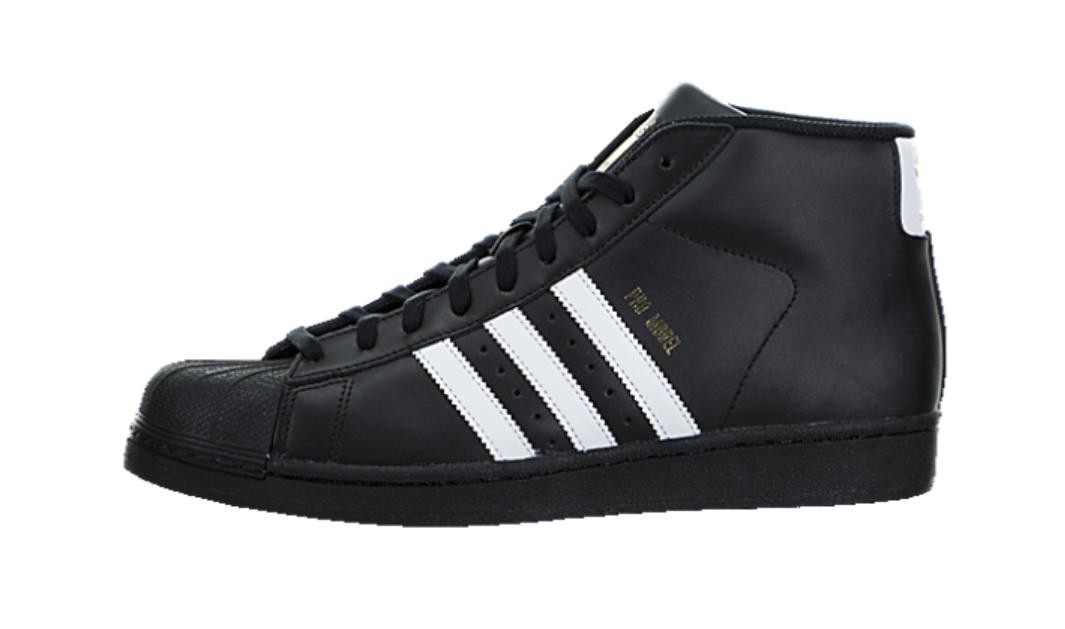 Adidas B39368 Men's Black Pro Model High Top Originals Sneaker Sz 14.5 2514