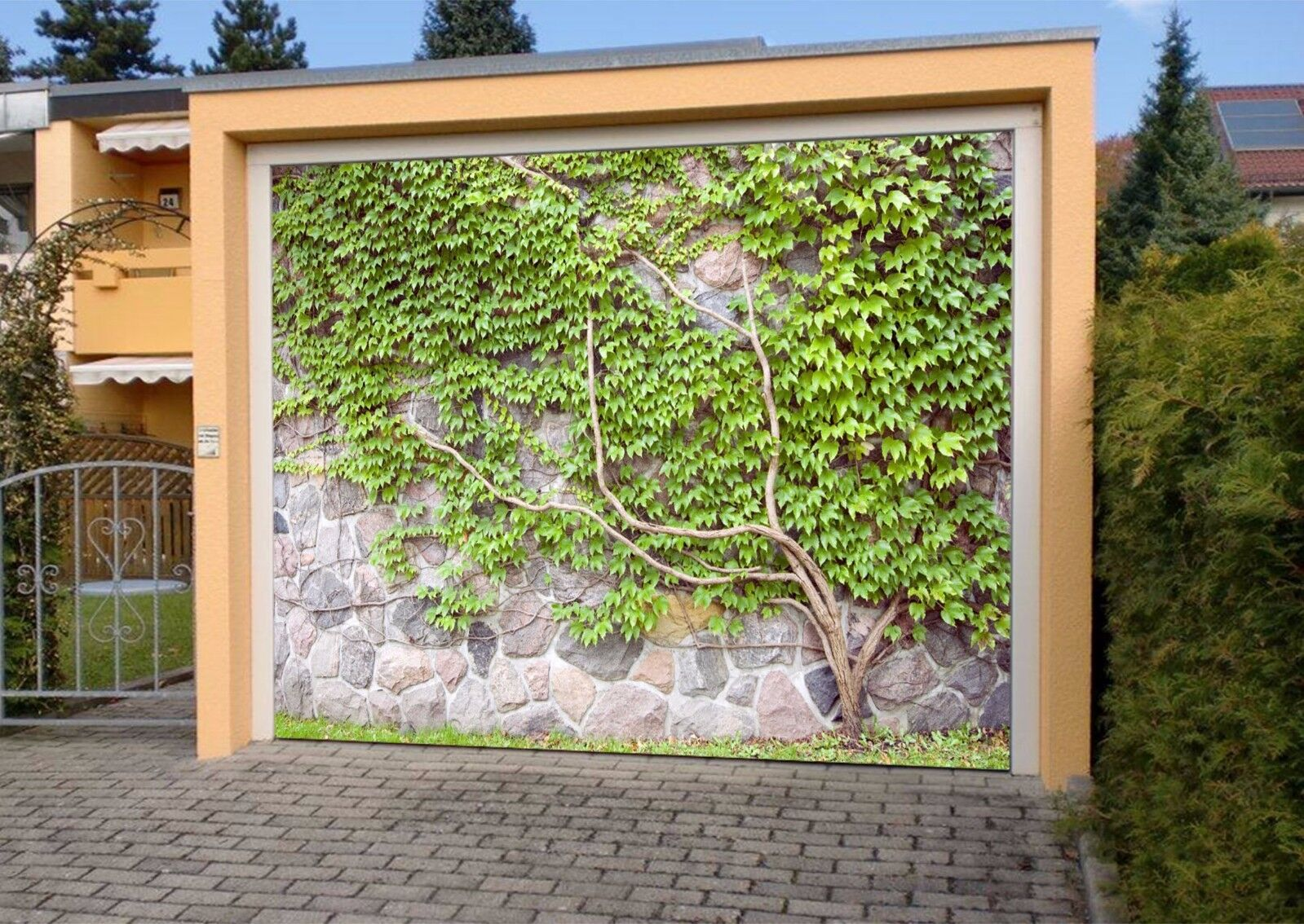3D Leaf  Wall  76 Garage Door Murals Wall Print Decal Wall AJ WALLPAPER UK Carly