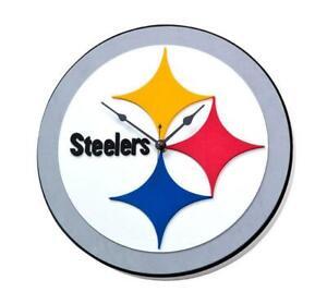 Pittsburgh-Steelers-3D-Fan-Foam-Logo-Wanduhr-NFL-Football-Relief-Wall-Clock