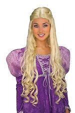 Rubia Princesa Peluca Royal Cuento de hadas Barbie Fancy Dress Costume Accesorio Nuevo