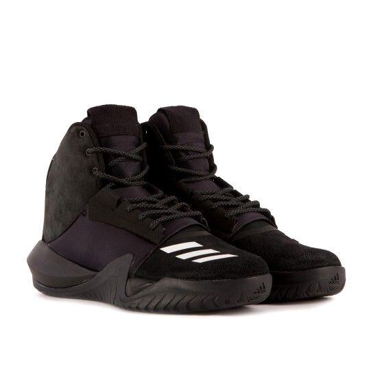 Adidas Men's ADO Crazy Team Team Team Black Basketball shoes Size 8 US M 874dd6