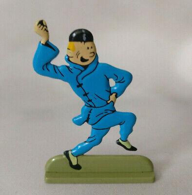 Box scene Figurine Tintin and Snowy back on track Moulinsart 43111 2009
