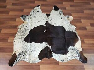 Cowhide Rug Exotic Grey /& Black real Hair on Cow Hide Skin Area Rugs 26sq ft 5x5