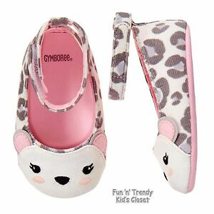 NWT Gymboree CUDDLE CLUB Baby Girls Size 1 2 US Snow Leopard Flats Crib Shoes