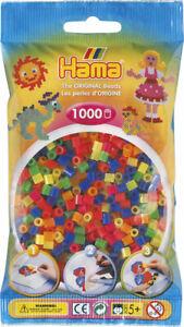 2,6mm Bastel Perlen HAMA mini Mix  Bügelperlen 1000 Stk