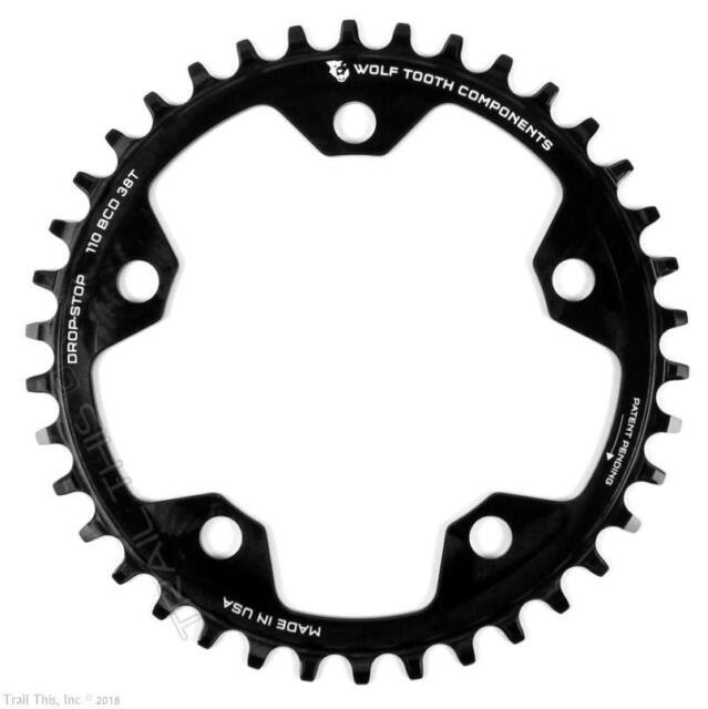 Wolftooth Drop-Stop BCD104 x4 Bolts Bicycle MTB Inner Chainring 30T-38T