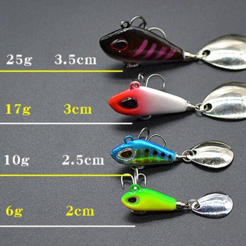 Lifelike Pêche Leurre Swimbait VIB Dur Bait Poisson Treble Hook Tackle 5Colors