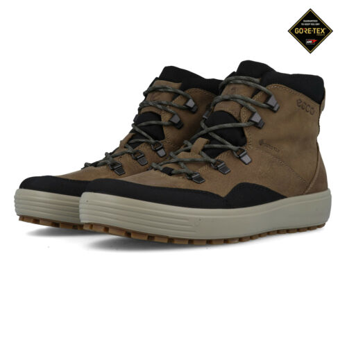 Ecco Mens Soft 7 Tred GORE-TEX Walking Boots Brown Sports Outdoors Waterproof