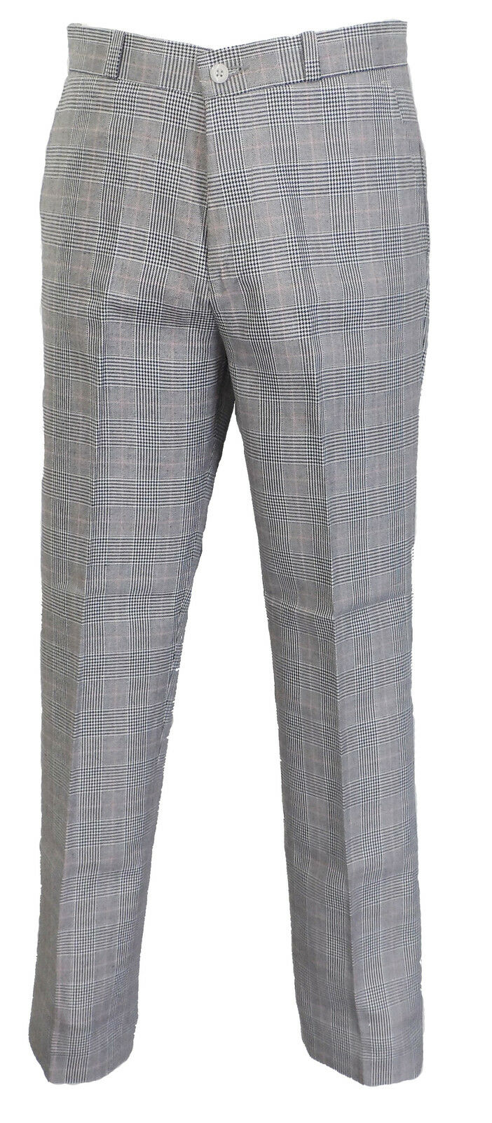 Mens Prince of Wales 60S 70S Retro Mod Vintage Sta Press Trousers
